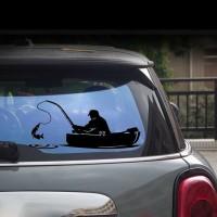 Stiker Dinding dengan Bahan Mudah Dilepas dan Gambar Perahu Ikan