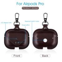 Pouch Case Holder Apple Airpods dengan Kancing Bahan Kulit PU Warna