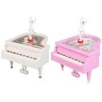 Romantic Piano Model Dancing Ballerina Music Box Clockwork Musical
