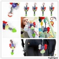 Mu♫-Infant Baby Kids Music Elephant Hanging Bed Dolls Bell Plush