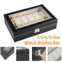 2-12 Grids Slot Watch Display Storage Box Collection Case Organiser
