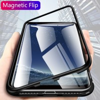 CHYI for samsung a50 a70 a40 a20 Built-in Magnetic Case Glass Magnet