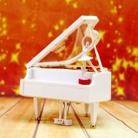 Mainan Bayi & Anak--Rotating dancing girl piano music box eight-tone