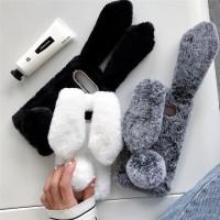 3D Bunny Fluff Hair Phone Case For Samsung A70 A50 A40 Warm Rabbit