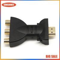 Adapter Konverter Sinyal AV Digital Signal HDMI Ke 3 RCA Audio