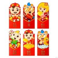 4Pcs / Pak Amplop Angpao Tahun Baru Imlek / Imlek / Tahun Baru Cina