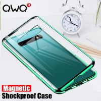 Magnetic Adsorption Glass Case for samsung galaxy A50 A30 A20 A10 A40