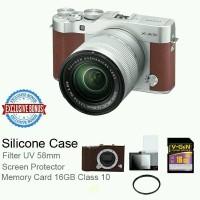 Fujifilm Mirrorless X-A3 Lensa Kit 16-50mm OIS II - BROWN - FREE