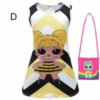 Dress Princess Casual Anak Perempuan Lengan Pendek LOL Surprise