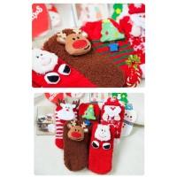 Kaos Kaki Tema Natal Bahan Katun untuk Anak Perempuan