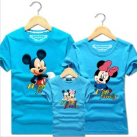 Family Match Tee Mickey Minnie Couple Kids Boy Girl T-Shirt Tops