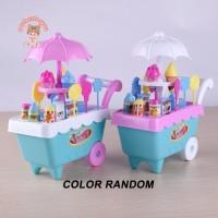 Perfectforyou Mainan Gerobak Es Krim/Permen Mini Untuk Anak