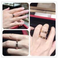 Love Wedding Band Ring Cartier 18K 3 Berlian Emas Putih Dapat