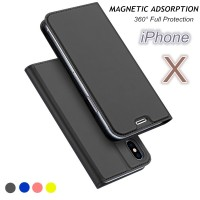 Slim Leather Flip Wallet Case For iPhone 7 6 6s s 8 Plus Magnetic