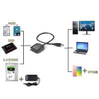 "Kabel Adapter USB 3.0 Ke SATA untuk 2.5 ""3.5"" HDD SSD Blu-ray DVD /"