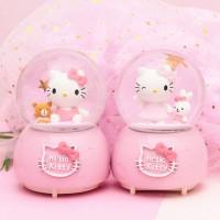 Mainan Bayi & Anak--Automatic snow crystal ball music box eight-tone
