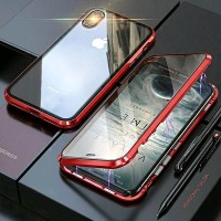 CAse IPHONE XR 6 1 Magnetic Glass Premium Case 2in1 KACA DEPAN BE