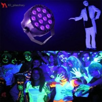 Lampu Panggung 12 LED Sinar UV dengan Sensor Suara Warna Ungu untuk