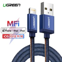 Ugreen MFI Lightning Kabel Data USB Fast Charging 2.4A Untuk iPhone