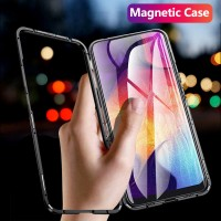 Magnetic Adsorption flip Case For Samsung Galaxy A50 A30 A20 Metal