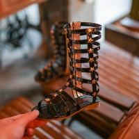 Sandal gladiator anak, Sandal tali tinggi, Sandal lilit tinggi
