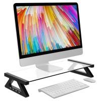 Stand Meja Laptop Bahan Aluminium Alloy dengan 4 Port USB untuk iMac