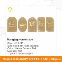 HTK SPH   Hang tag kraft Homemade. Label ,Price Tag