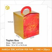 TBFL120145 - Toples Box Imlek Flower, CNY Packaging Sincia, Packaging,