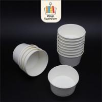 Paper Cup Ice Cream Cup 4oz 5oz 8oz Plain Putih White (50Pcs/Bks)