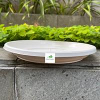 Tatakan Pot Putih Plastik 20 cm