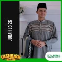 BAJU JUBAH MUSLIM/BAJU PRIA DEWASA WARNA HITAM KHALIFA JB 26