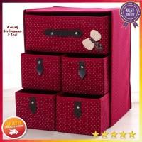 tempatpenyimpanan perlengkapan rumah Kotak Serbaguna 5 Laci (Kotak