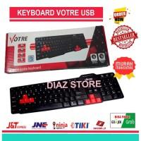 Keyboard Votre Basic Usb Kb2308 - Hitam