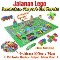 Jalanan Lego Anak - Map Jalanan Main Lego - Brick Block Lego Anak