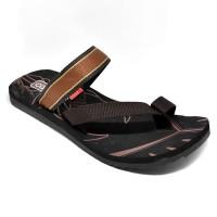 Carvil Sandal Pria CORNETTO-M BLACK BROWN