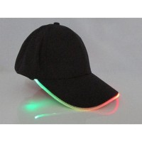 Topi Baseball Cap with Glowing RGB LED Light - WXYQA - Black
