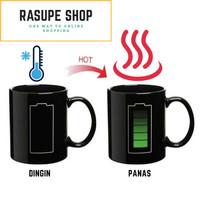Cangkir Gelas Minum Mug Unik Kreatif LED Motif Baterai