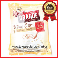 KAPAL API GRANDE WHITE COFFEE WITH CHOCO TOPPING POUCH 20X20GR