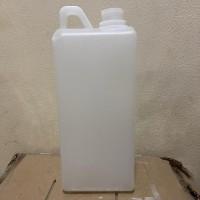 Botol Jerigen 1 liter HDPE Botol Agro kimia putih tebal segel