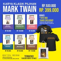 Super Sale Novel Karya Klasik Pilihan Mark Twain Bonus Kaos & Totebag