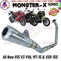 CLD Monster X-Series ALL NEW R15 VVA V3 Knalpot Racing Full set