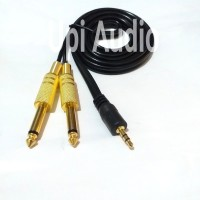 kabel audio aux for hp ke mixer 3.5mm to 6.5mm stereo 1.5m