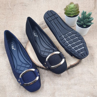 Otha Shoes By Laviola - Sepatu Flat Shoes Wanita - H128 OLW BLACK-NAVY