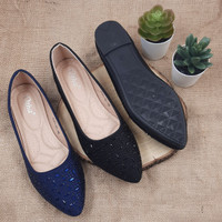 Otha Shoes By Laviola - Sepatu Flat Shoes Wanita - H287 OLF BLACK-NAVY