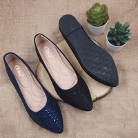 Otha Shoes By Laviola - Sepatu Flat Shoes Wanita - H286 OLF BLACK-NAVY