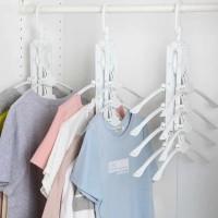 Gantungan Baju Lipat 8 Gantungan Anti slip Clothes Hanger Non-slip