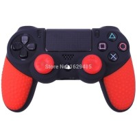 Anti Slip Silicone Stick Controller PS4 + Thumbs Grip/ Tutup Analog