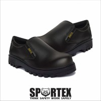 safety shoes slip on by sportex shoes - Hitam, 42