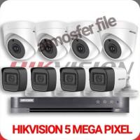 PAKET CCTV HIKVISION 8CH ULTRA HD 8 CAMERA 5MP HARDISK 4TB KOMPLIT