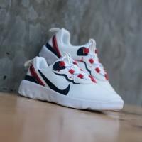 Sepatu Anak Original Nike Renew Element 55 White Red Black Slip On